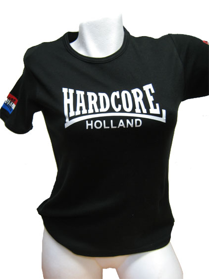 Damesshirt Hardcore Holland NL flags