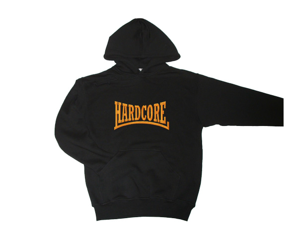 Hooded Hardcore logo (oranje)