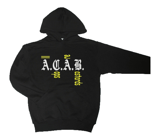 (1b) Hooded ACAB COPS GEEL